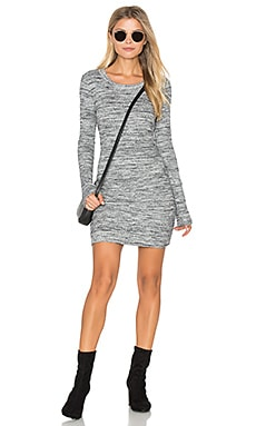 Long Sleeve Rib Dress in Heather