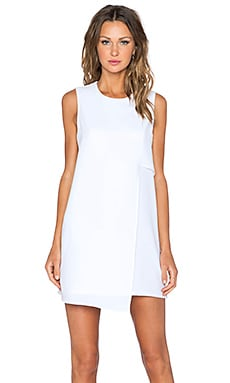 Fifteen Twenty Asymmetrical Shift Dress in Off White