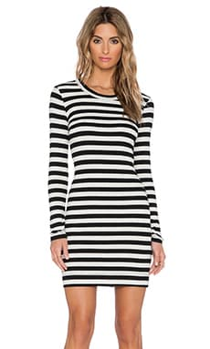 Fifteen Twenty Long Sleeve Stripe Dress in Stripe