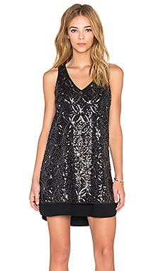 Fifteen Twenty Sequin Mini Dress in Black