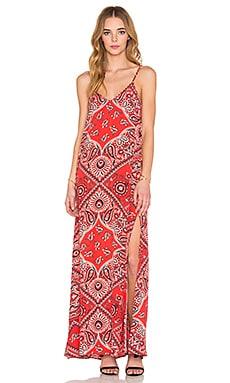 Fifteen Twenty Double V Maxi Dress in Print