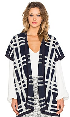 Fifteen Twenty Cozy Plaid Poncho in Print