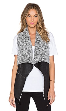 Fifteen Twenty Faux Fur Vest in Multi