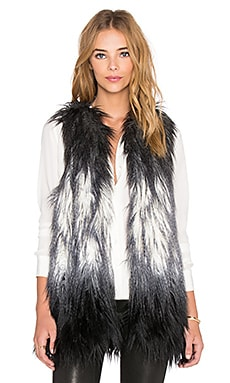 Fifteen Twenty Ombre Faux Fur Vest in Gray