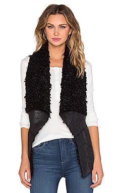 Fifteen Twenty Reversible Faux Fur Vest in Black