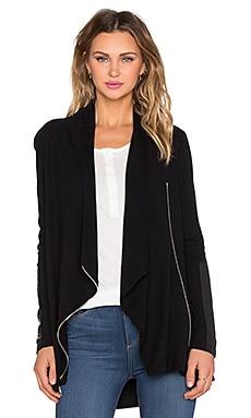 Fifteen Twenty Drape Leather Patch Jacket in Black