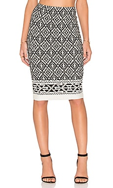 Fifteen Twenty Border Print Skirt in Print