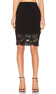 Fifteen Twenty Sequined Lace Skirt in Black