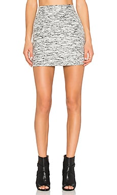 Fifteen Twenty Melange Mini Skirt in Light Heather Gray