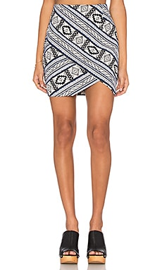 Fifteen Twenty Double Angle Skirt in Print