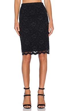 Fifteen Twenty Lace Pencil Skirt in Black