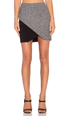 Fifteen Twenty Combo Tweed Angle Skirt in Grey