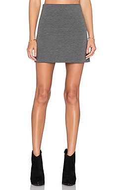 Flare Mini Skirt in Heather