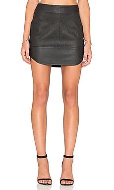 Fifteen Twenty Contrast Leather Skirt in Black