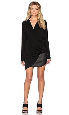 Fifteen Twenty Asymmetrical Crossover Top in Black