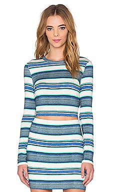 Fifteen Twenty Crop Top in Stripe