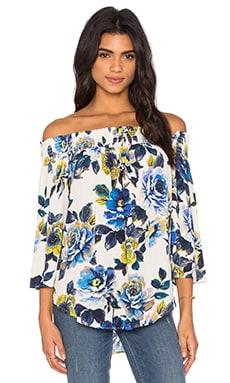 Fifteen Twenty Off The Shoulder Top en Imprimé