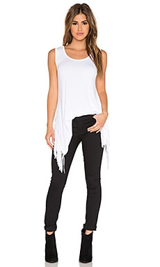 Fifteen Twenty Fringe Hem Tank in Off White