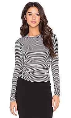 Fifteen Twenty Side Shirred Crop Top in Stripe
