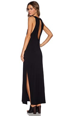 The Fifth Label Chrome Maxi Dress in Black