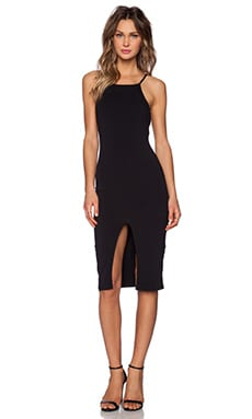 The Fifth Label Don't Panic Midi Dress in Black