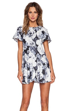 The Fifth Label Double The Love Dress in Monochrome Floral Print