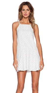 The Fifth Label Play It Right Dress in White & Black Cross Check Print