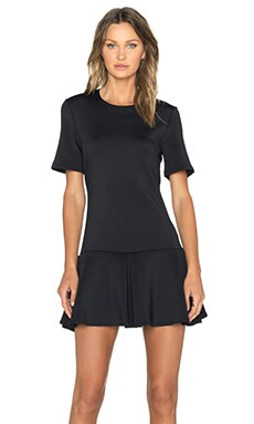 The Fifth Label We Never Change Short Sleeve Dress in Black