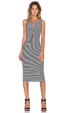 The Fifth Label Lazy Moon Dress in Navy & White Stripe