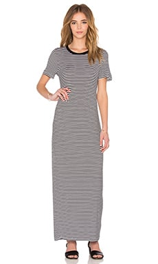 The Fifth Label Gardenia Dress in White & Black Stripe