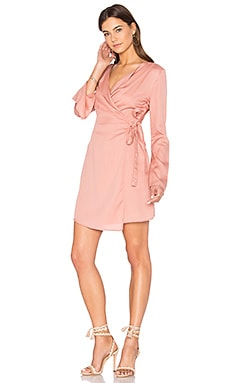 Harmony Wrap Dress in Dusty Rose