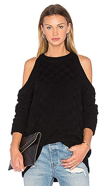 Abstraction Cold Shoulder Sweater