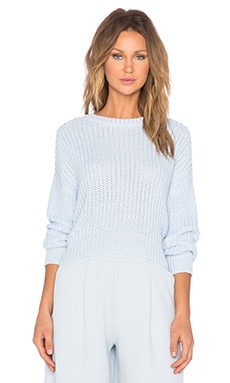 The Fifth Label Daylight Knit Sweater in Powder Blue & White