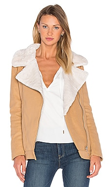 Above & Beyond Jacket with faux fur collar