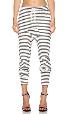 The Fifth Label Laguna Track Pant Stripe in White & Black