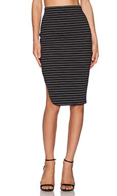 The Fifth Label American Girl Skirt in Black & White Stripe