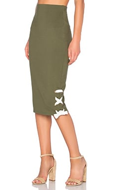 Late Night Skirt in Olive