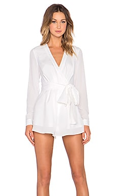 The High Road Long Sleeve Playsuit in Ivory