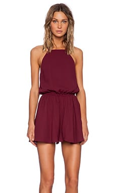 The Fifth Label Front Seat Playsuit in Burgundy