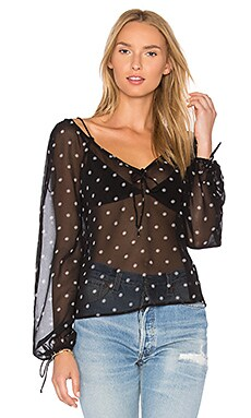 Midnight Memories Blouse en Imprimé Black Daisy