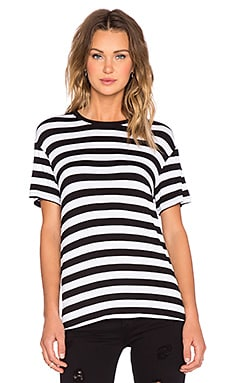 The Fifth Label Sleepwalker Tee in Black & White Stripe