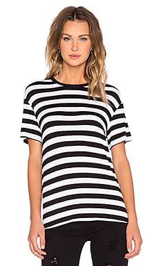The Fifth Label Sleepwalker Tee in Black & White Stripe