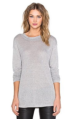 The Fifth Label Pixelated Long Sleeve Top in Grey Marle