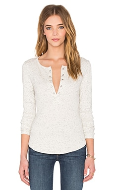 The Fifth Label Kool Thing Long Sleeve Top in Oatmeal Rib