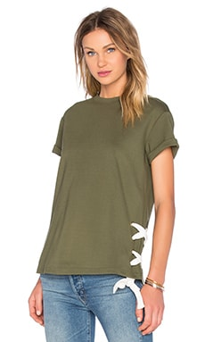 Late Night Top in Olive
