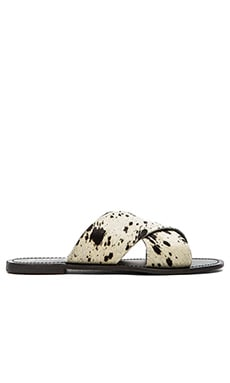 Make You Jump Slide Cow hair Sandal in Marble