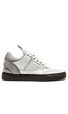 Filling Pieces Low Top Transformed Ice Perforated in White Grey