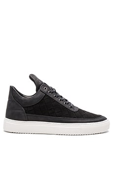 Filling Pieces Woven Gradient Low Top in Black