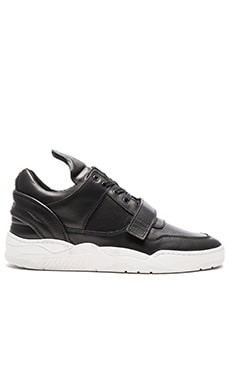 Filling Pieces Single Strap Low Top Transformed in Black