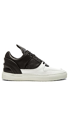 Filling Pieces Low Top Transformed Black White Mesh in Black White